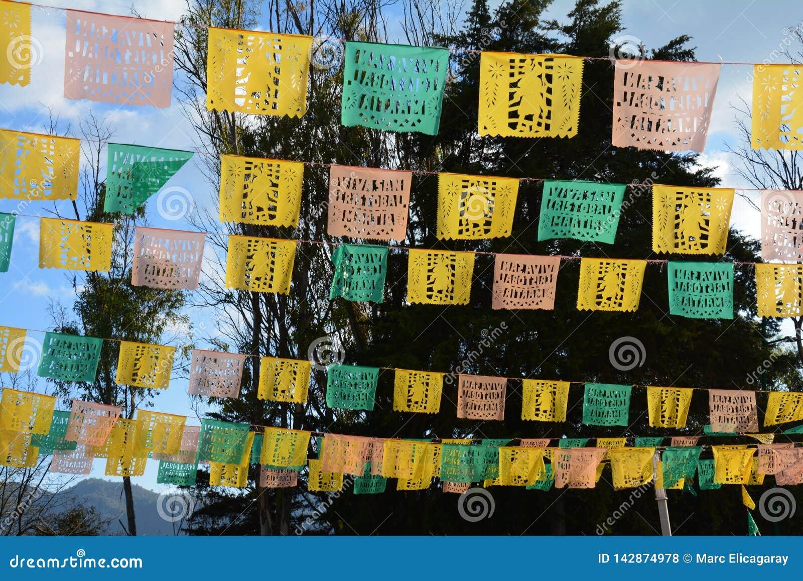 Papel Picado in San Cristobal DE las Casas Chiapas Mexico