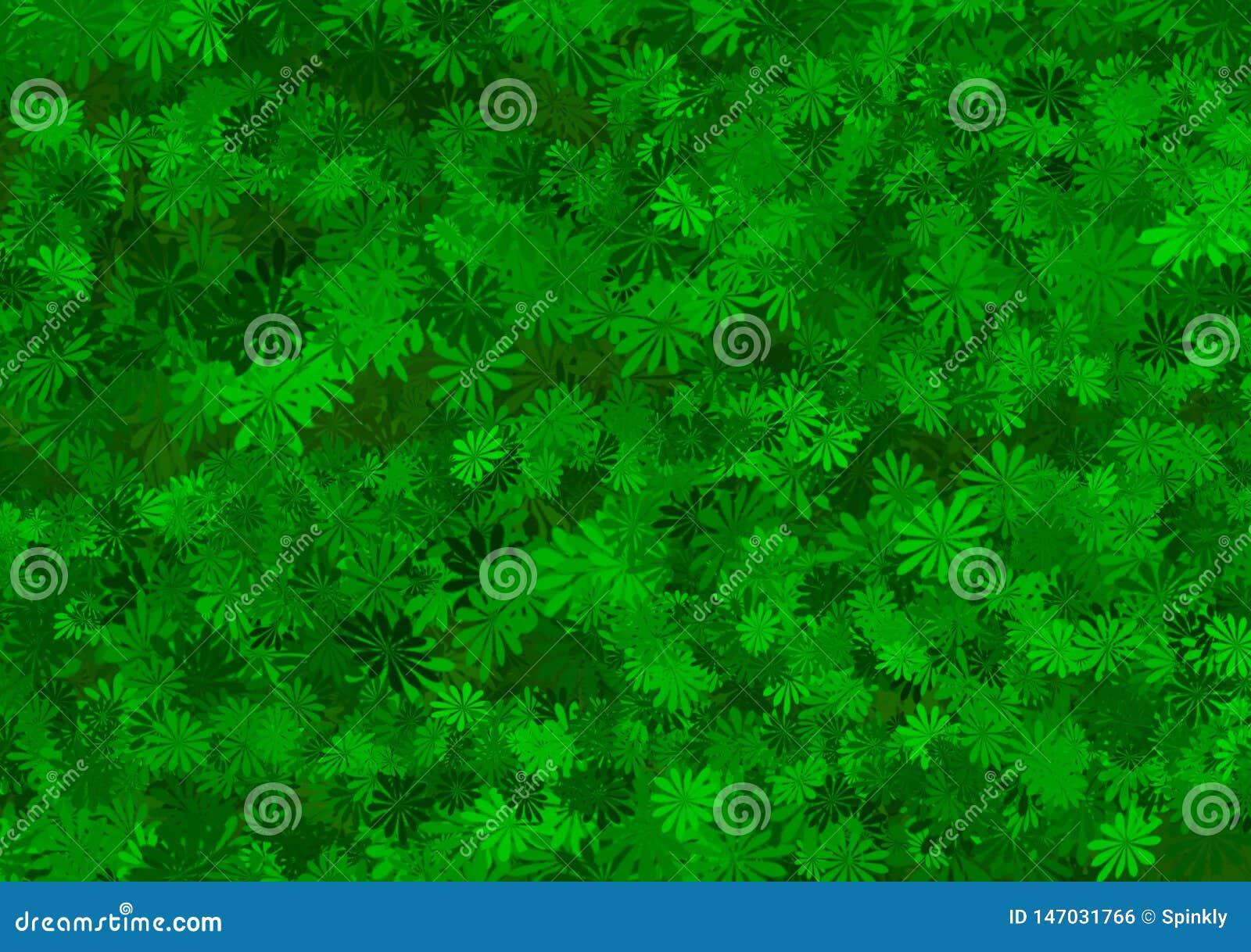 Papel pintado acodado estampado de flores verde de la sombra