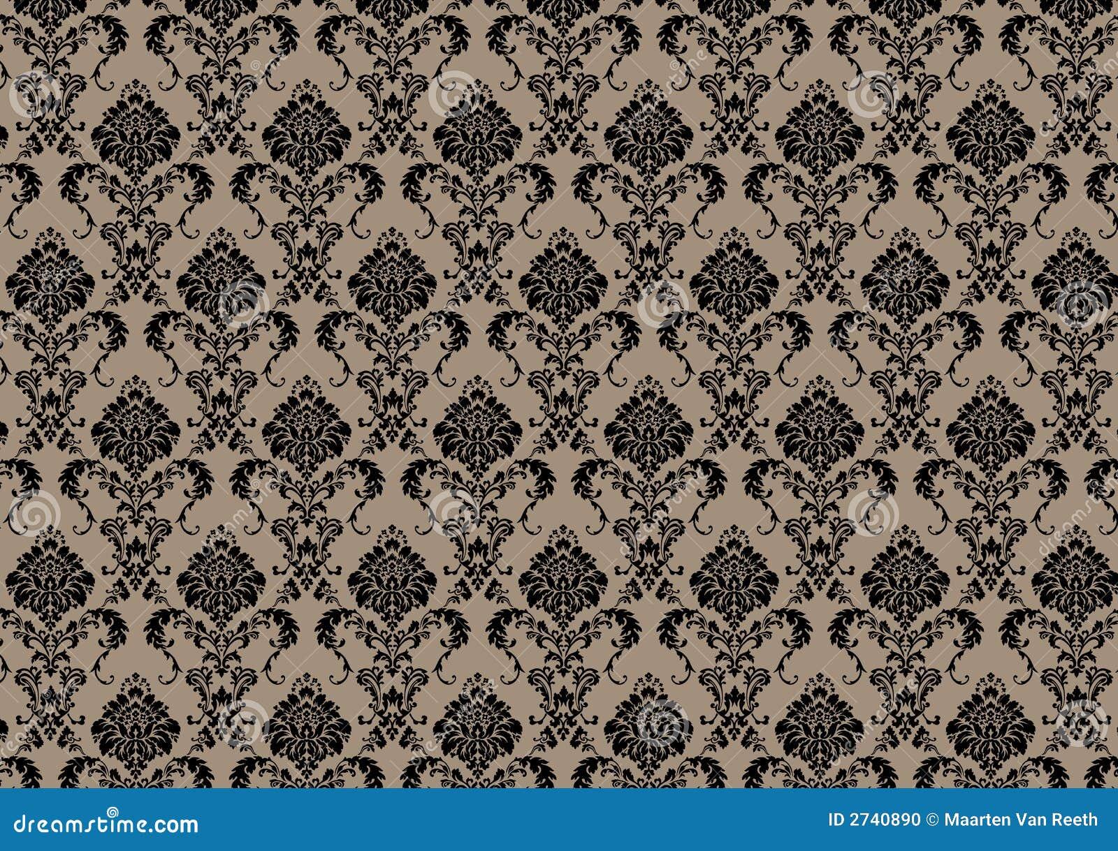 Papel pintado barroco stock de ilustraci n imagen de for Papel pintado barroco