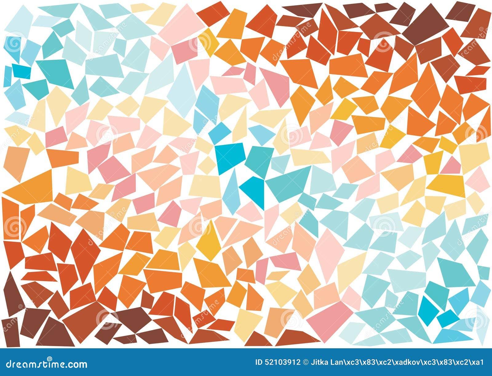Papel pintado brillante de las tejas de mosaico - Papel pintado mosaico ...