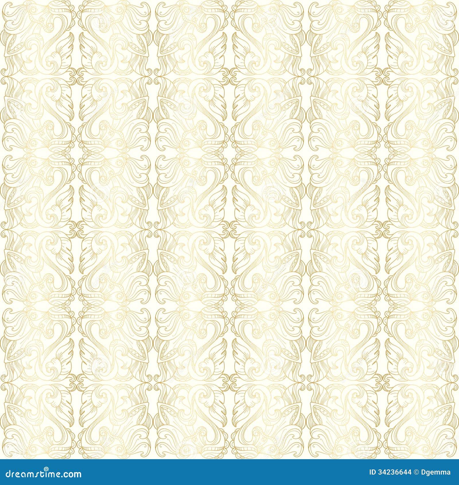 Papel pintado con el estampado de flores del oro imagenes for Papel pintado estampado