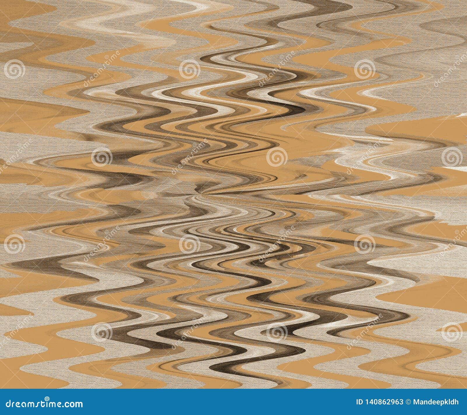 Papel pintado con la superficie pintada gruesa Fondo ondulado de la fantasía Cepille el arte de los movimientos