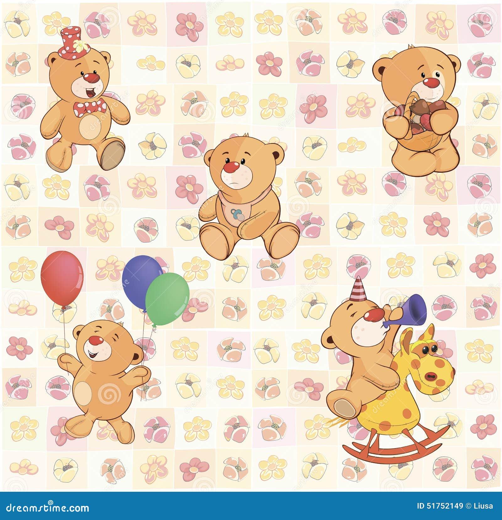 Papel pintado con los cachorros de oso rellenos - Papel pintado de los 70 ...