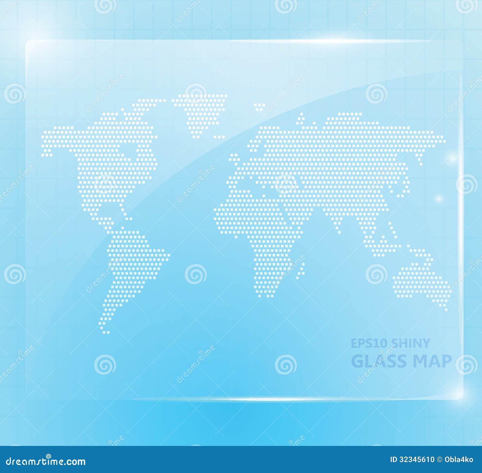Papel pintado de cristal brillante del mapa del mundo foto de archivo imagen 32345610 - Mundo del papel pintado ...