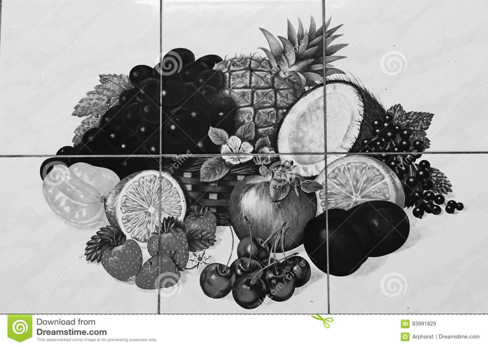Papel pintado de la fruta