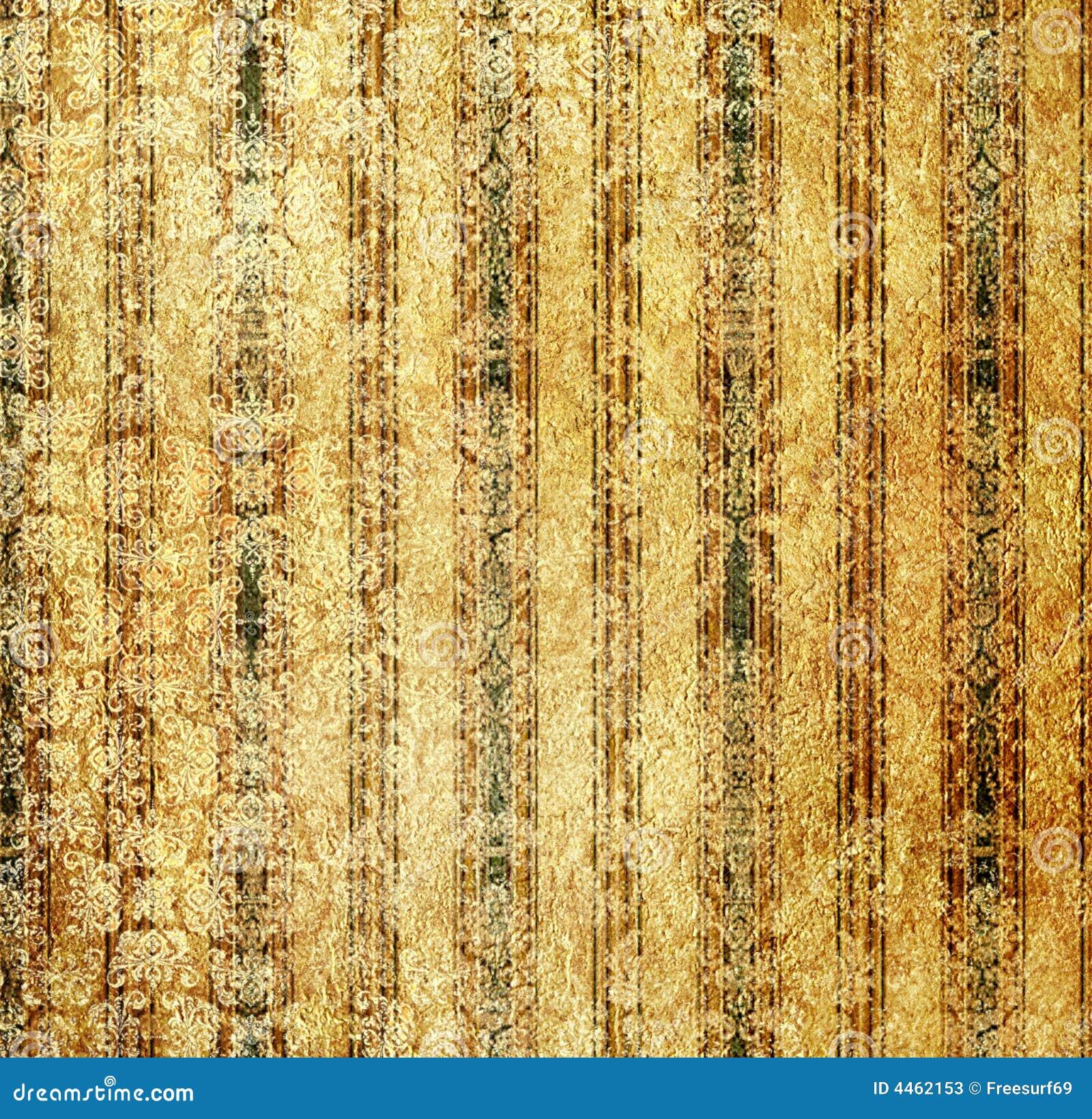 Papel pintado de oro de la vendimia
