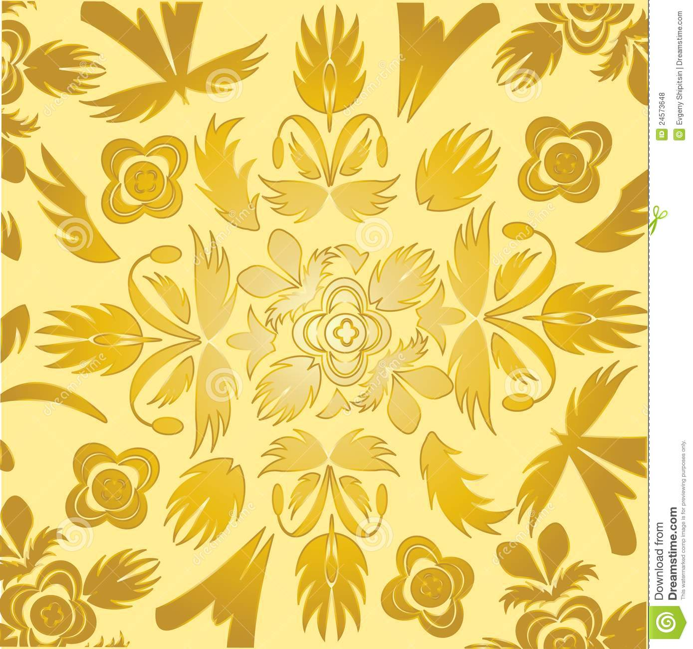 Papel pintado decorativo del color dorado ilustraci n del for Papel pintado dorado