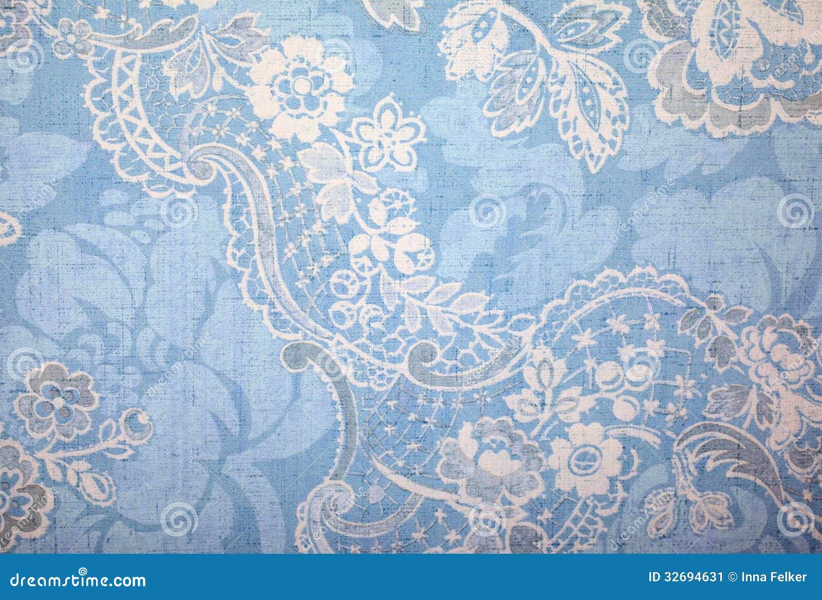 Papel pintado del azul del vintage
