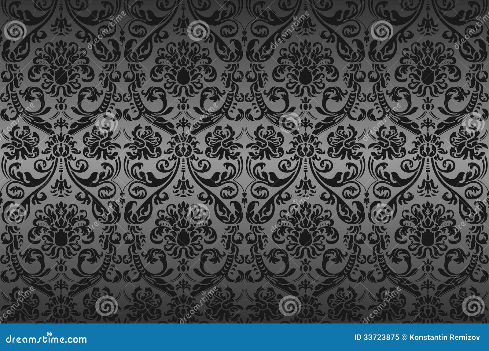 Papel pintado del damasco foto de archivo libre de regal as imagen 33723875 - Papel pintado damasco ...