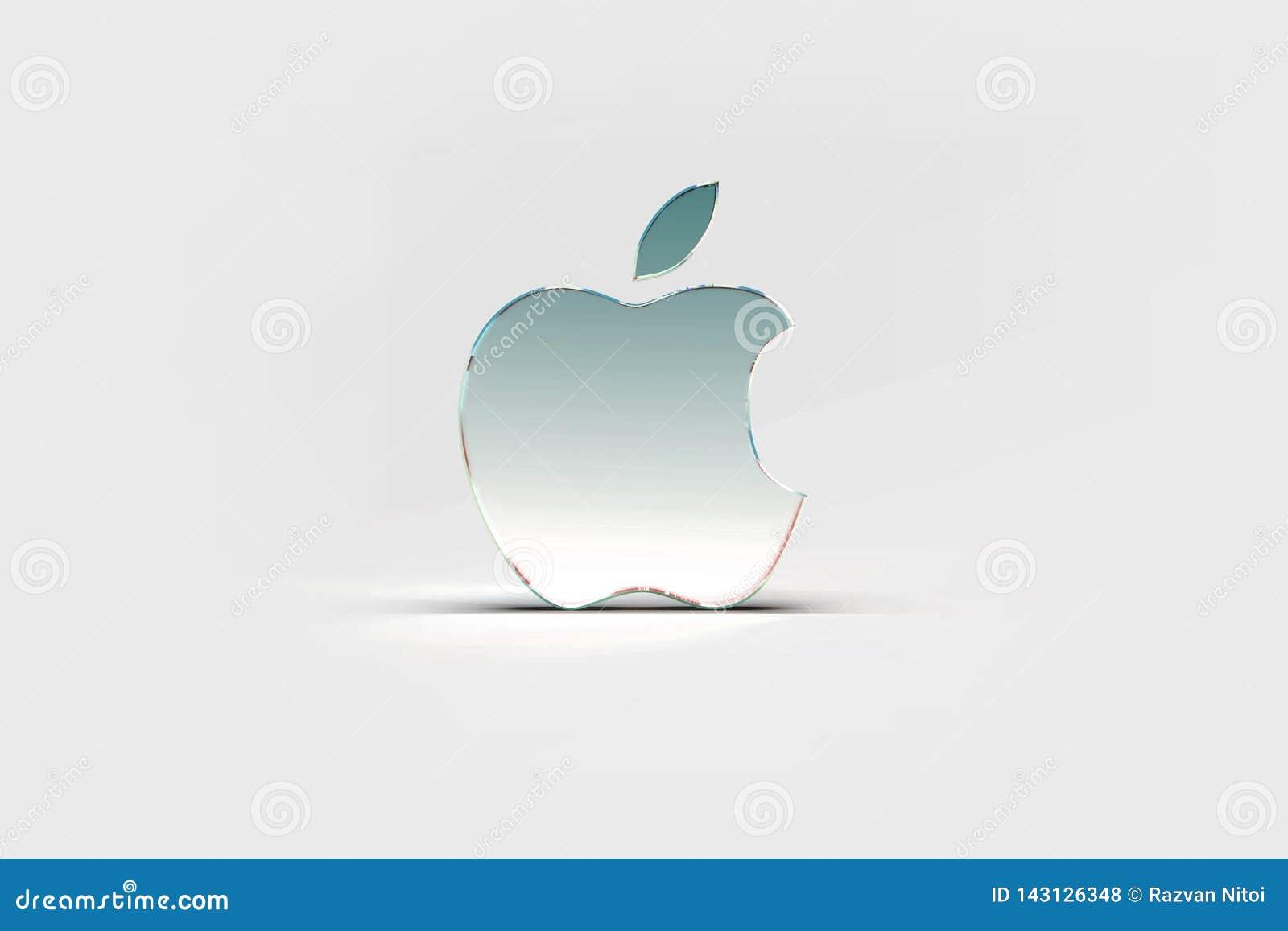 Papel pintado del logotipo de Apple, fondo ligero