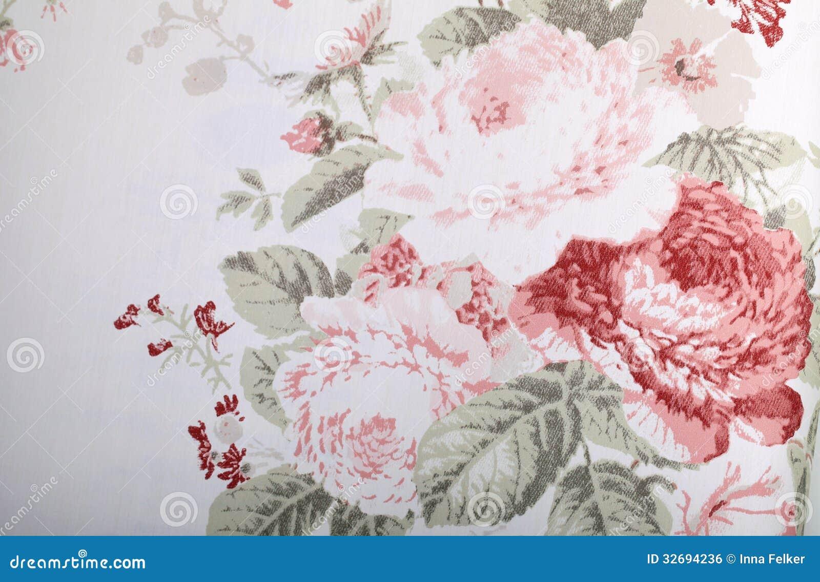 Papel pintado del vintage con el estampado de flores for Papel pintado vintage