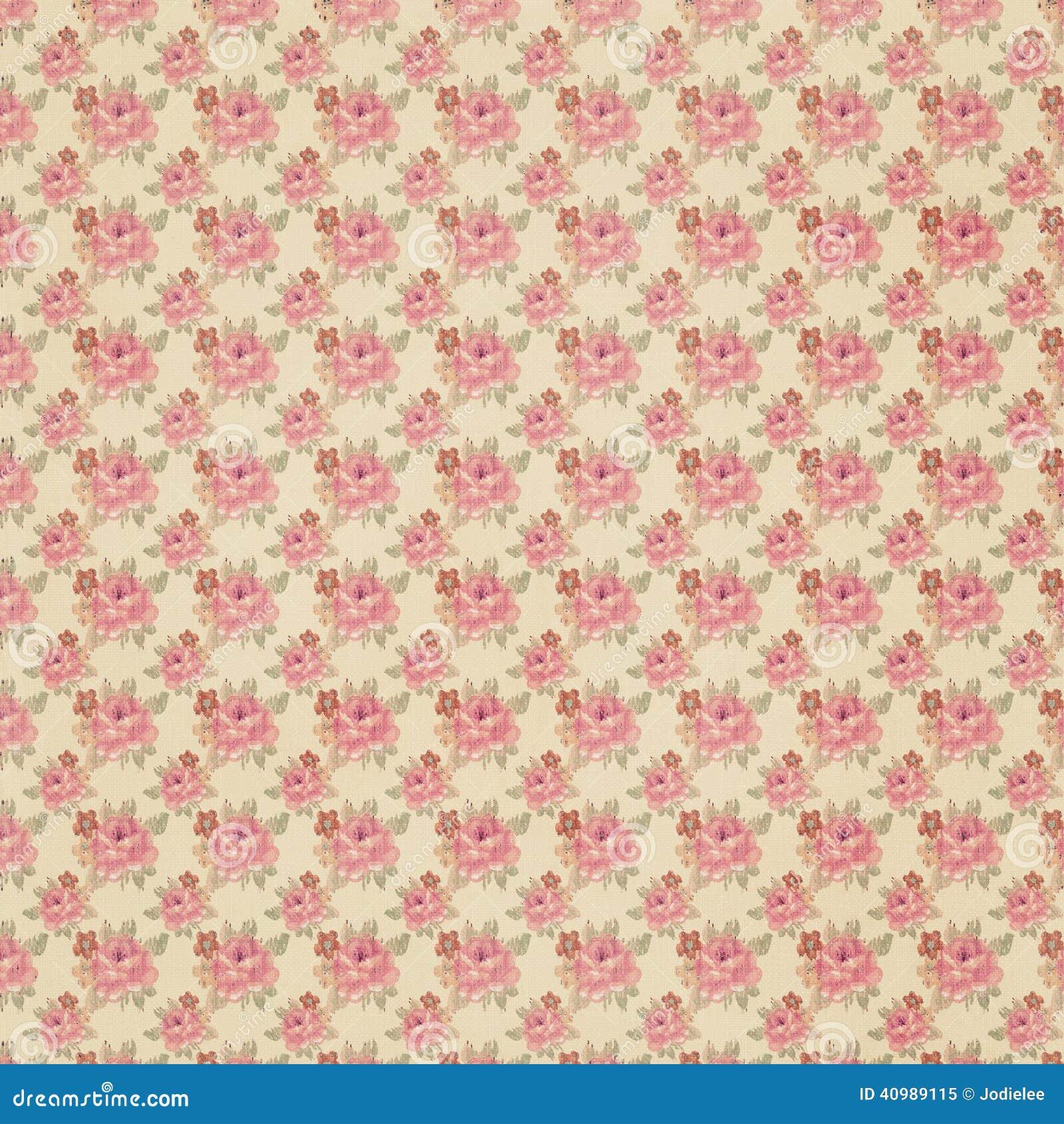 Papel pintado floral antiguo foto de archivo imagen - Papel pintado antiguo ...
