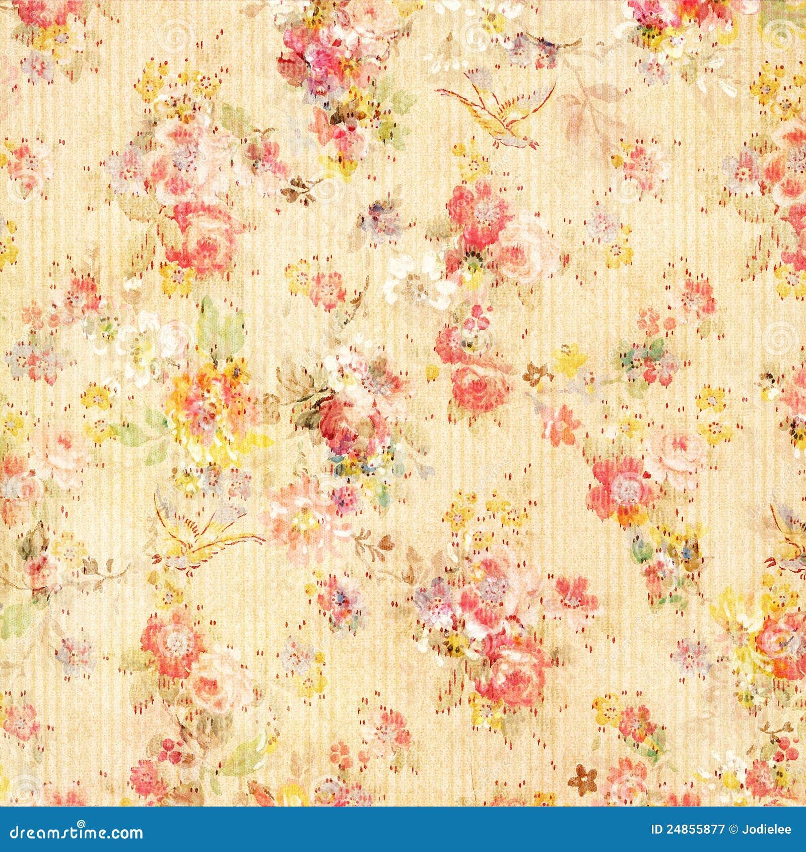 Papel pintado floral de rose de la antig edad elegante - Papel pintado elegante ...