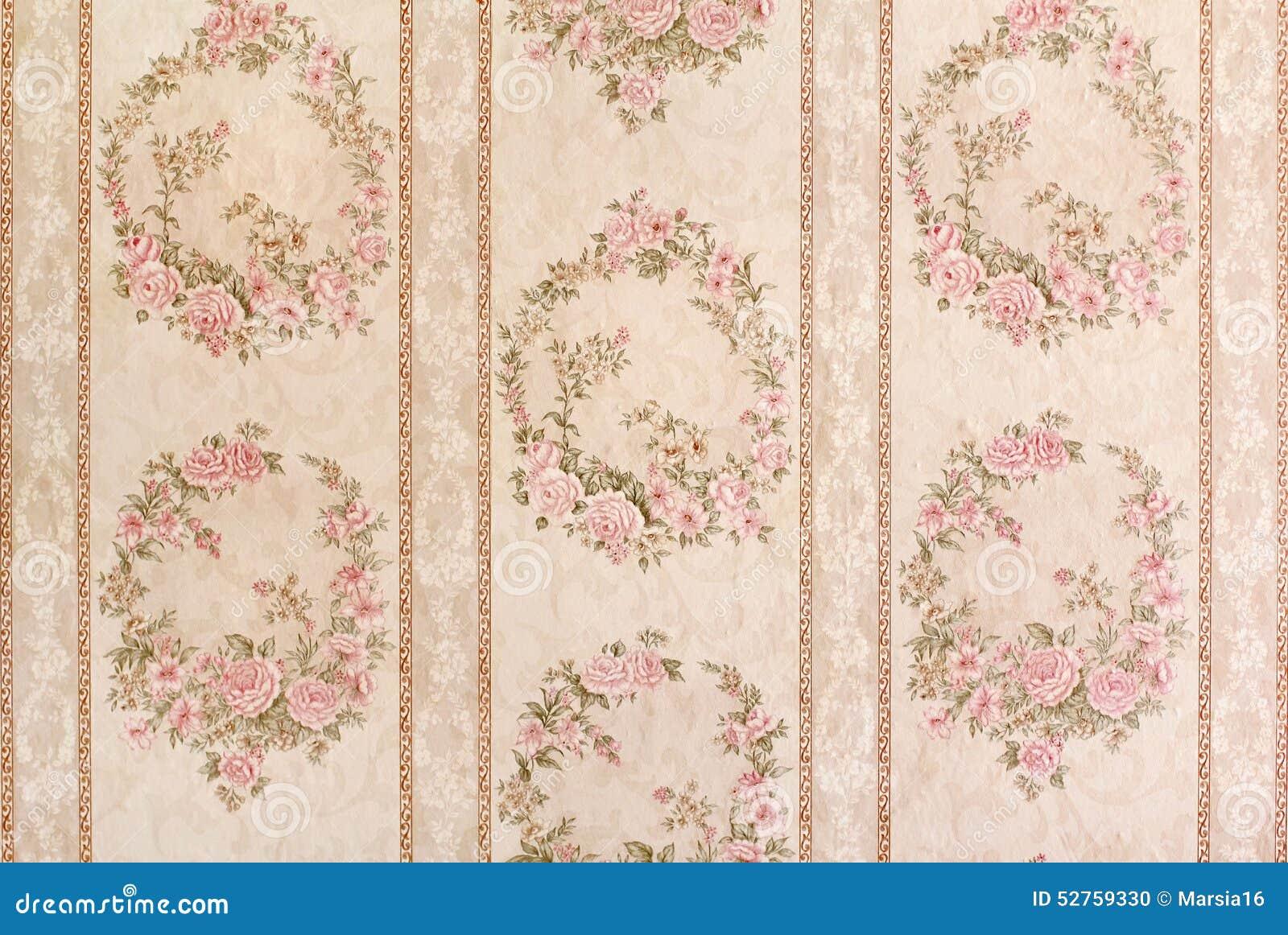 Papel pintado floral del vintage foto de archivo imagen Papel pintado vintage