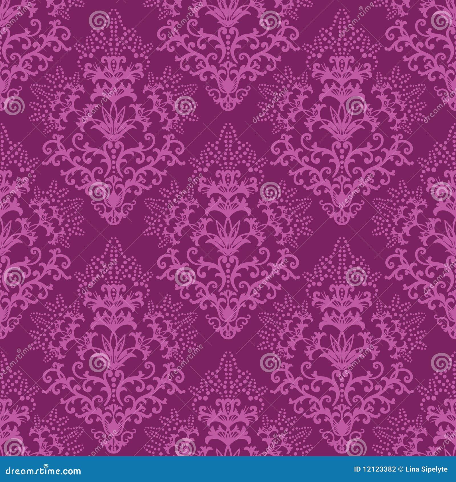 Papel pintado floral p rpura fucsia incons til fotograf a for Papel pintado fucsia