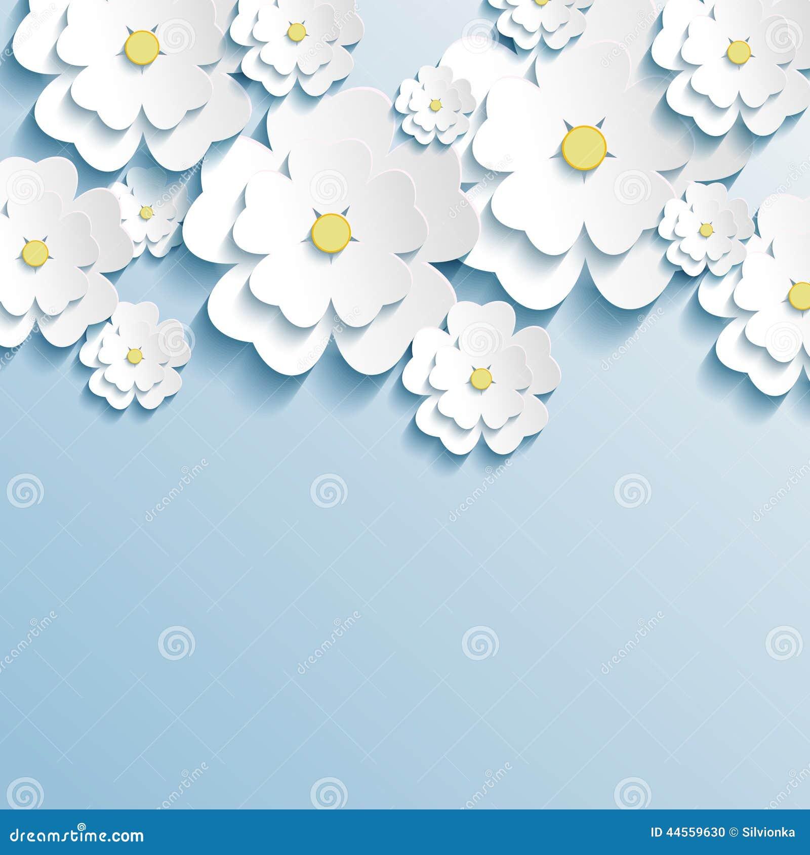 Papel pintado hermoso con 3d las flores elegantes sakura - Papel pintado de diseno moderno ...