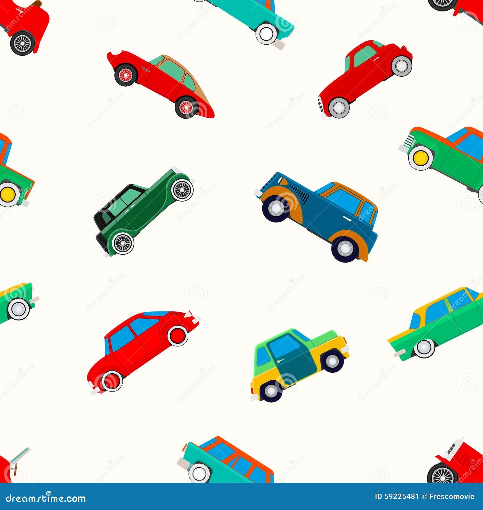 Papel pintado inconsútil de coches