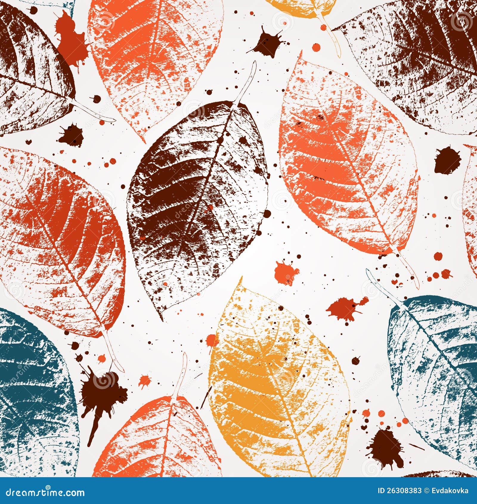 Papel pintado incons til de las hojas ilustraci n del for Papel pintado hojas