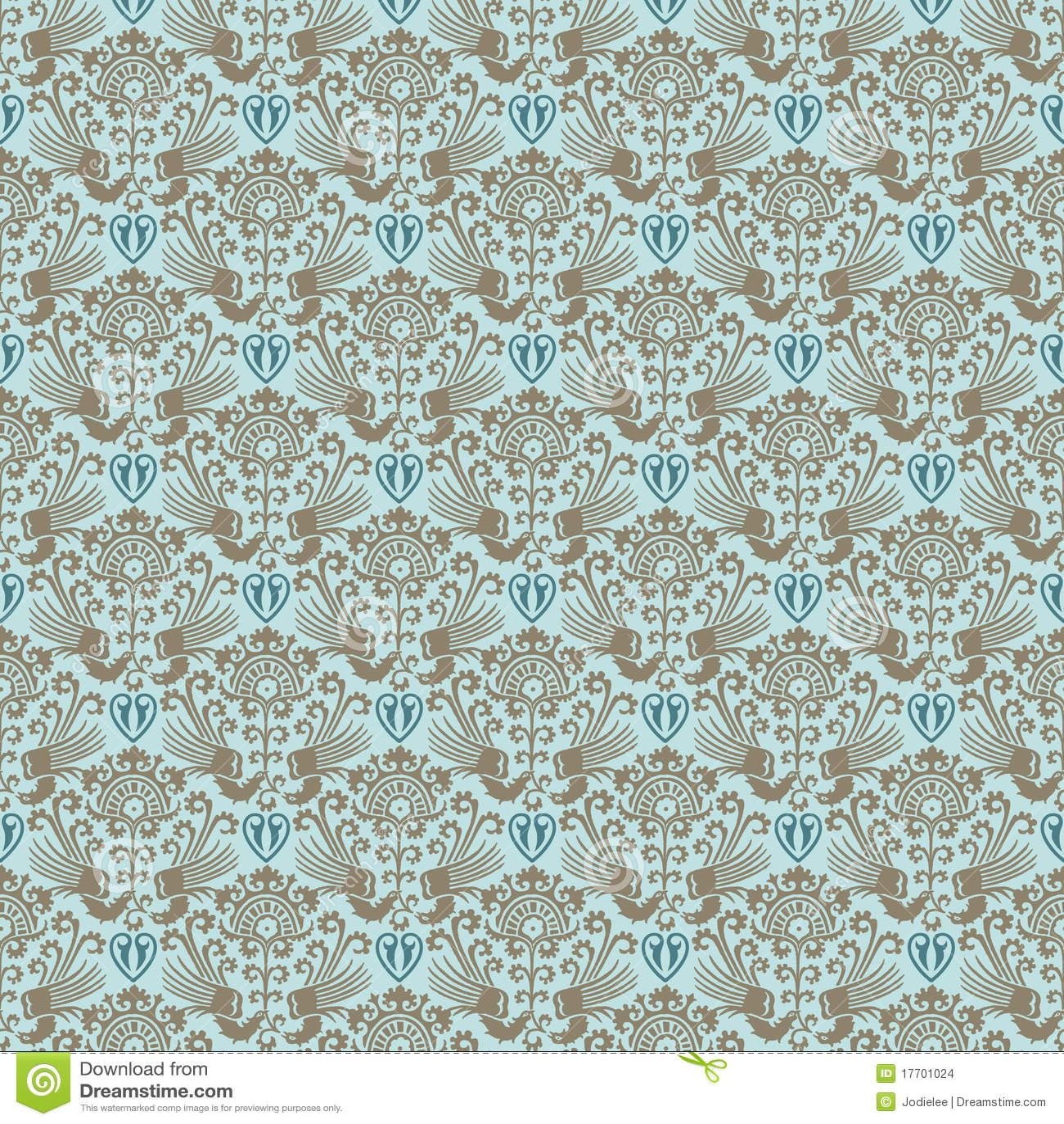 Papel pintado incons til del victorian del damasco azul for Papel pintado azul y plata