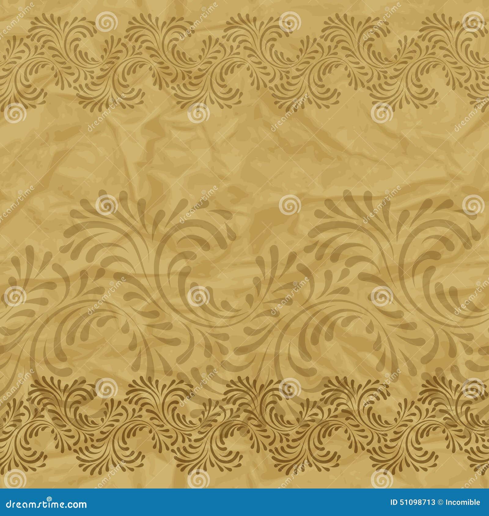 Papel pintado incons til del vintage estampado de flores for Papel pintado estampado