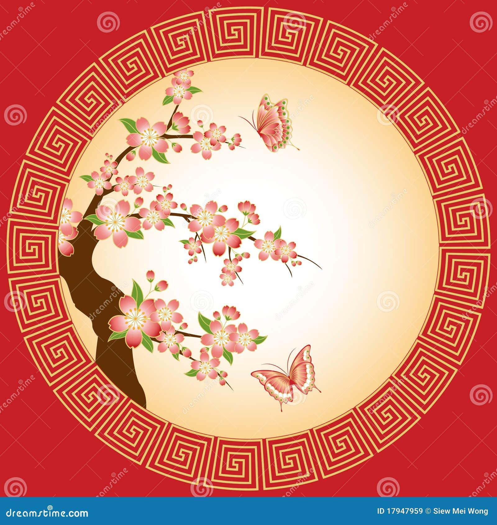Papel pintado oriental del flor del ciruelo im genes de for Papel pintado oriental