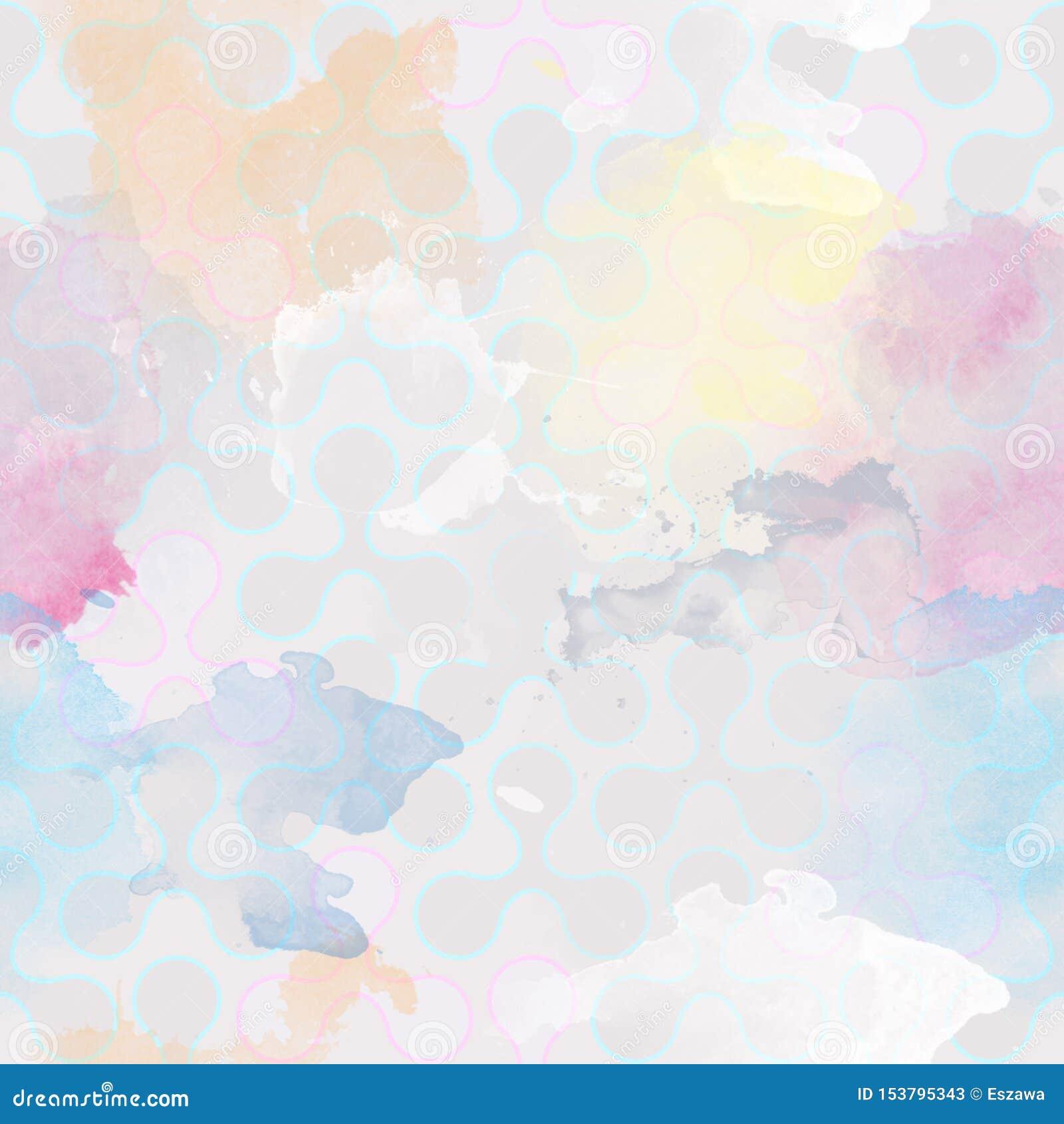 Papel pintado repetidor retro watercolor Las manchas blancas /negras, manchas, salpican - modelo del vintage - BITMAP