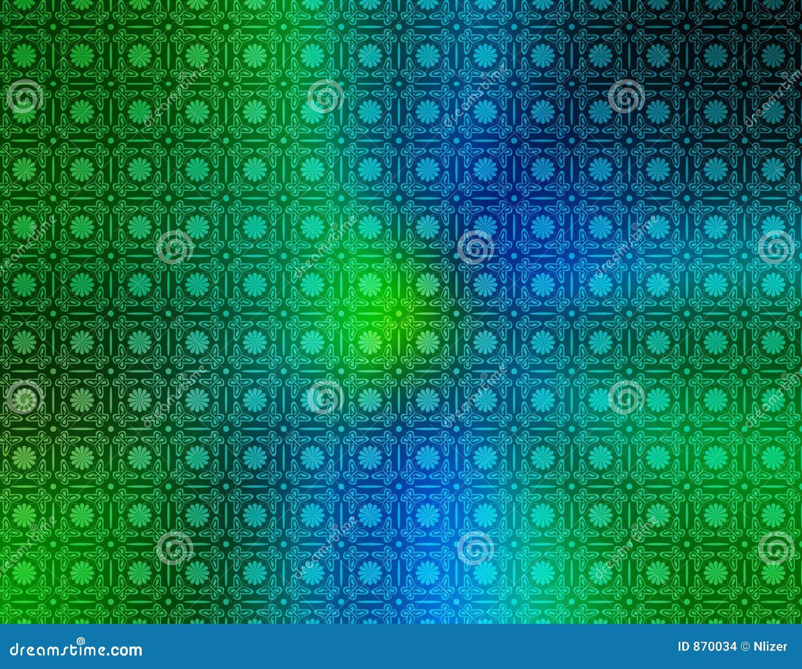 Papel pintado retro del verde azul imagenes de archivo - Papel pintado verde ...