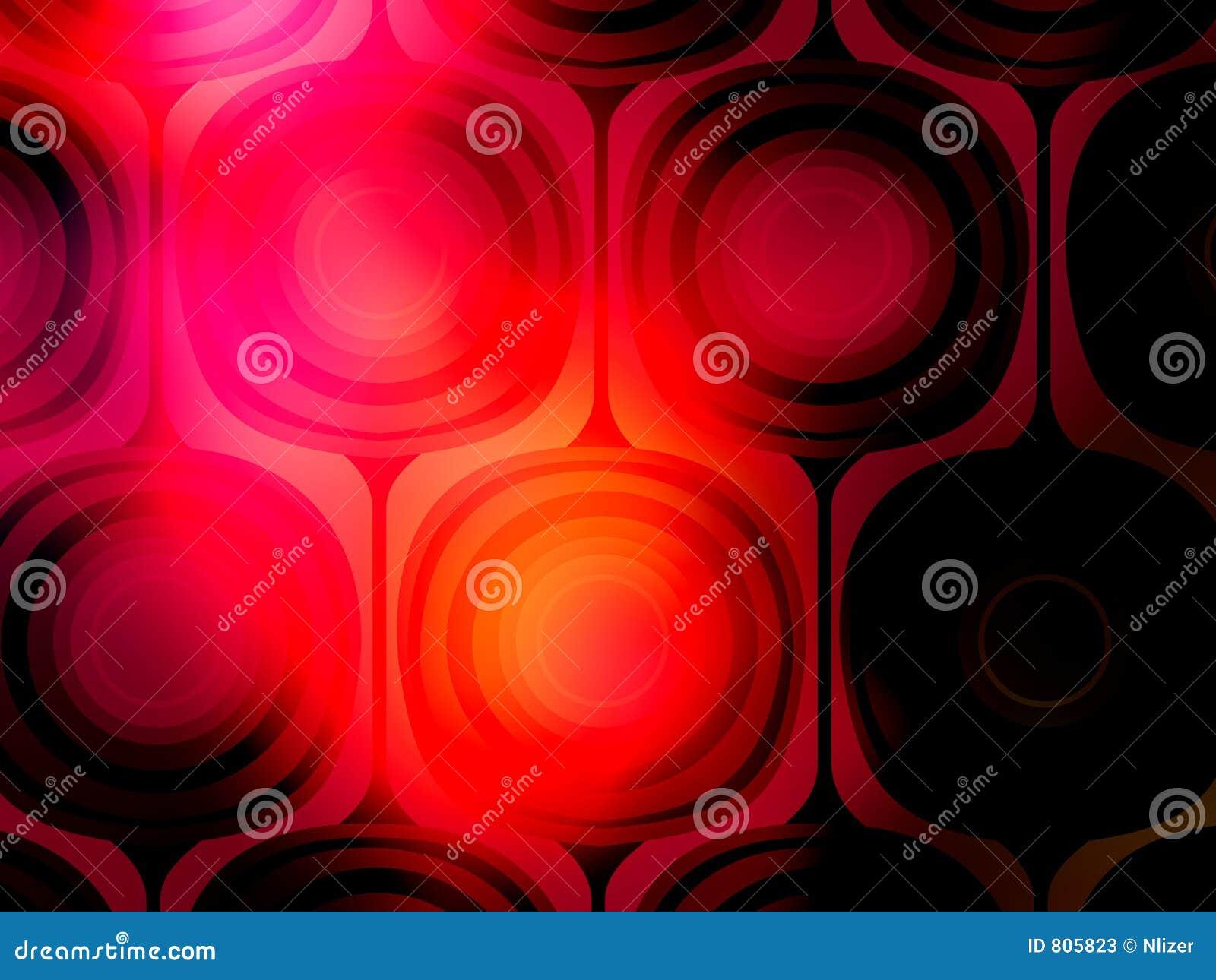 Papel pintado rojo vibrante del fondo de la Mod del negro