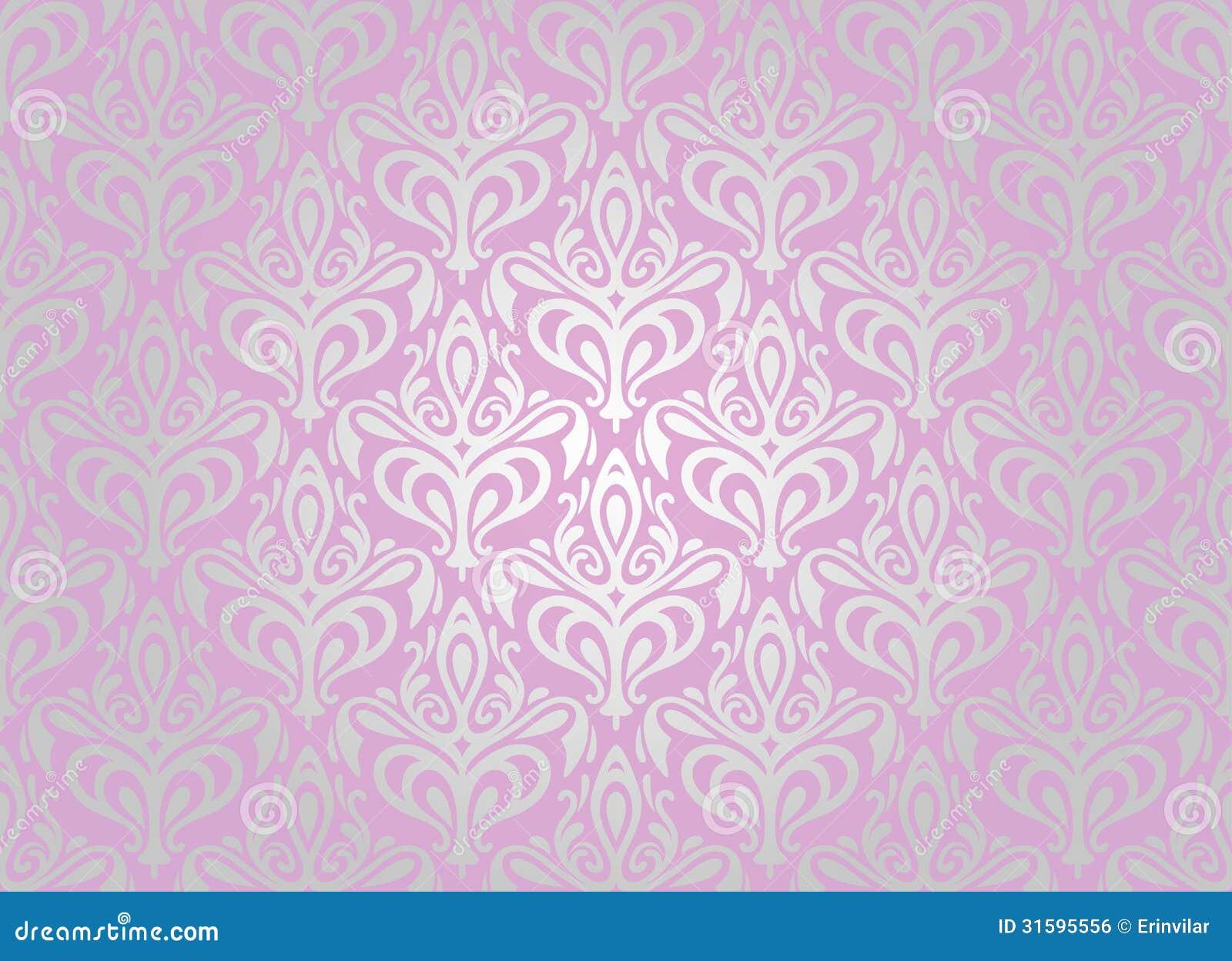 Papel pintado rosado y de plata imagen de archivo libre de for Papel pintado azul y plata