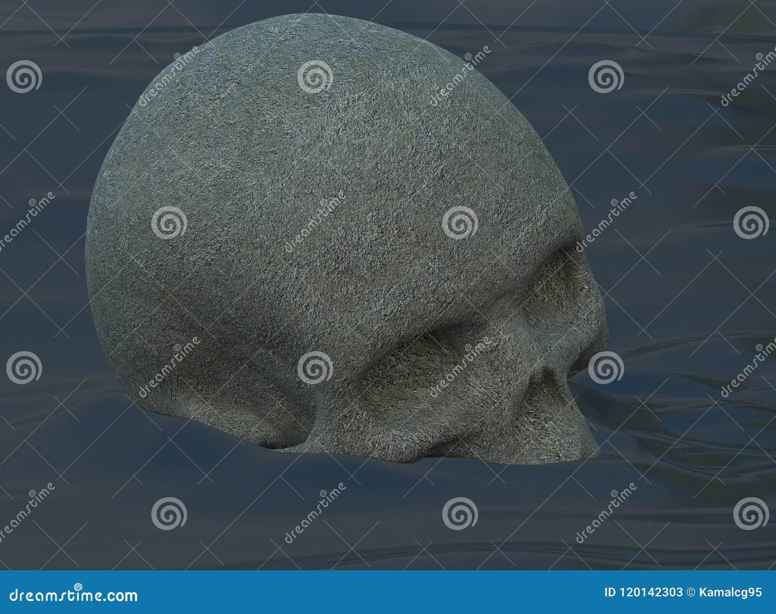 Papel pintado sucio abstracto del cráneo