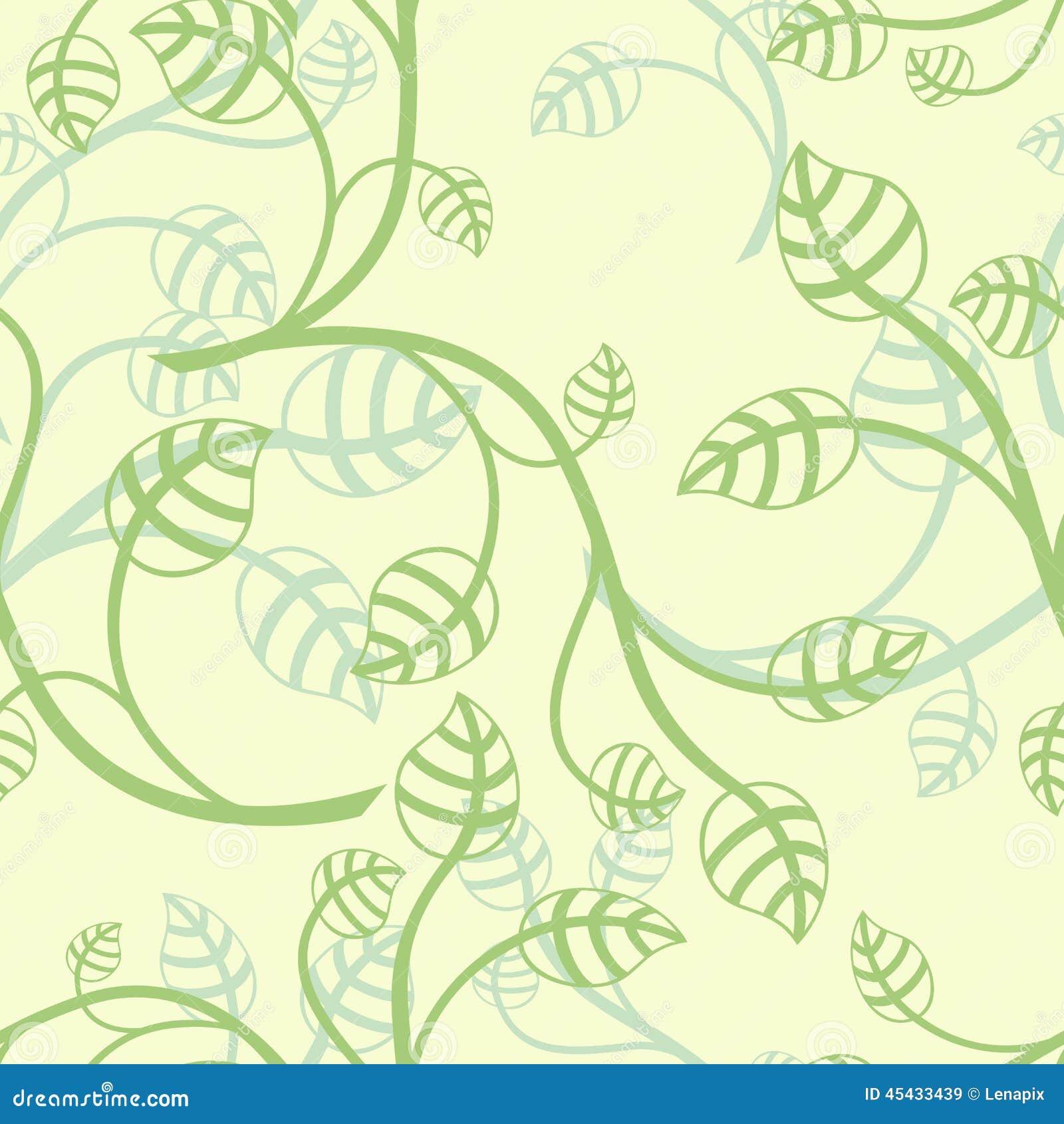 Papel pintado verde claro de las hojas ilustraci n del for Papel pintado hojas