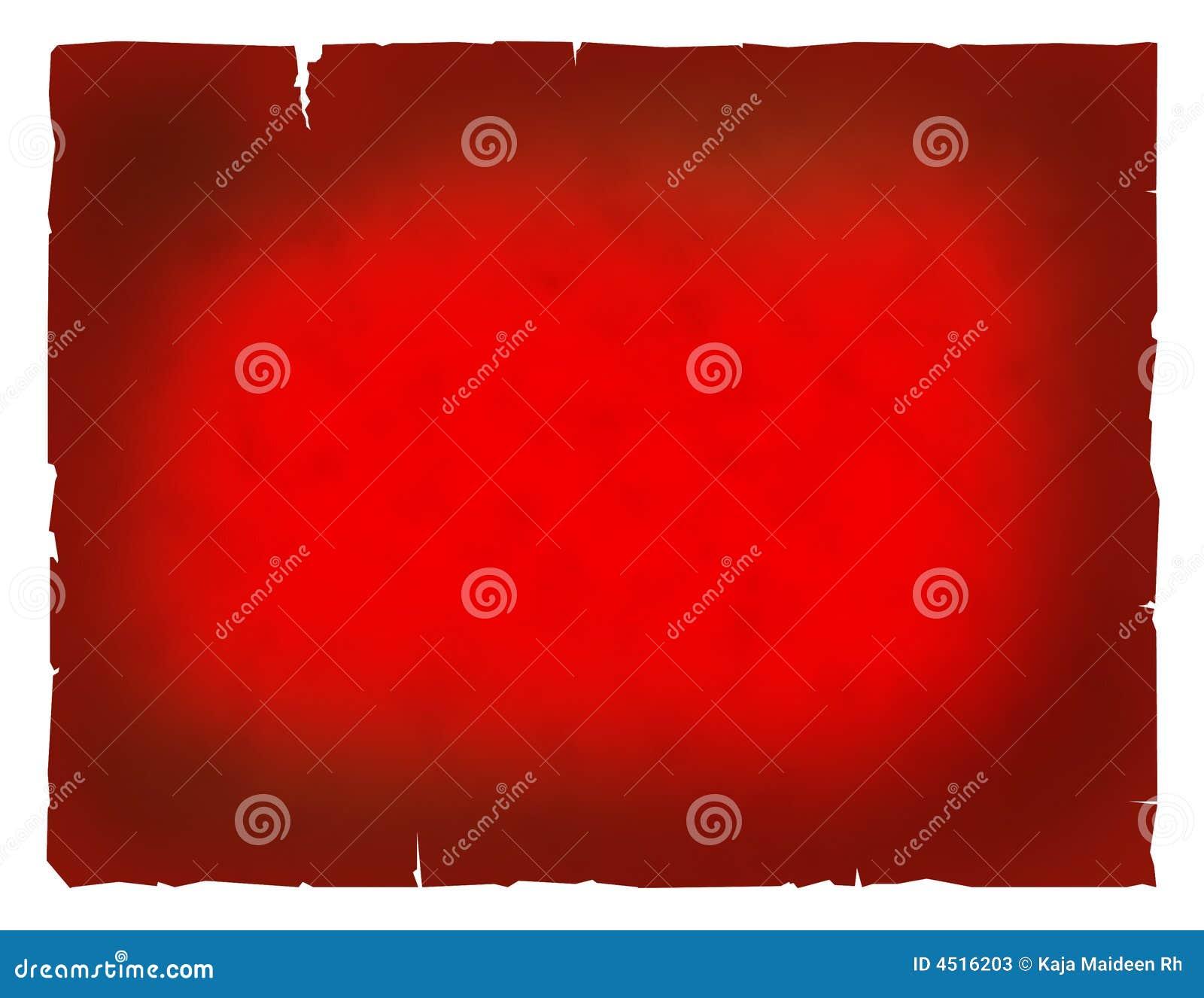 Papel rojo muy viejo