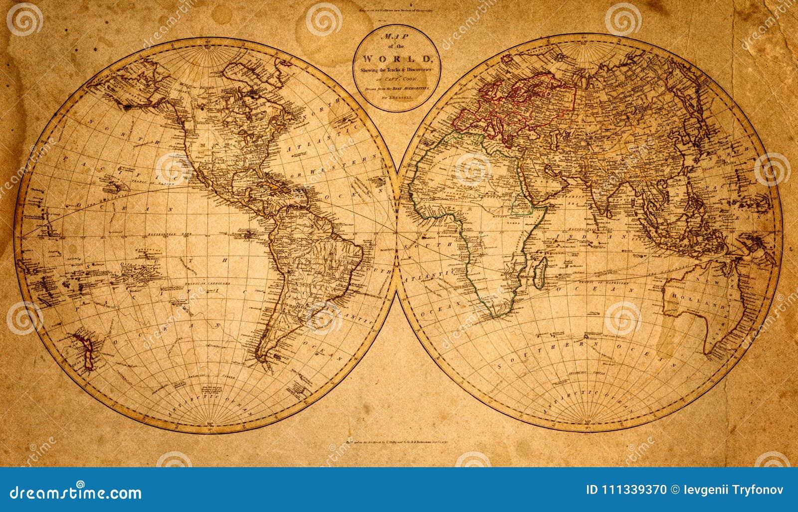 Papel velho com figura de um mapa Fundo da história