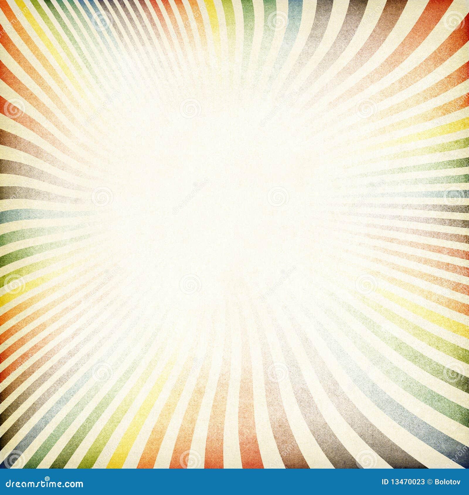 Papel velho da imagem retro do Sunburst textured.
