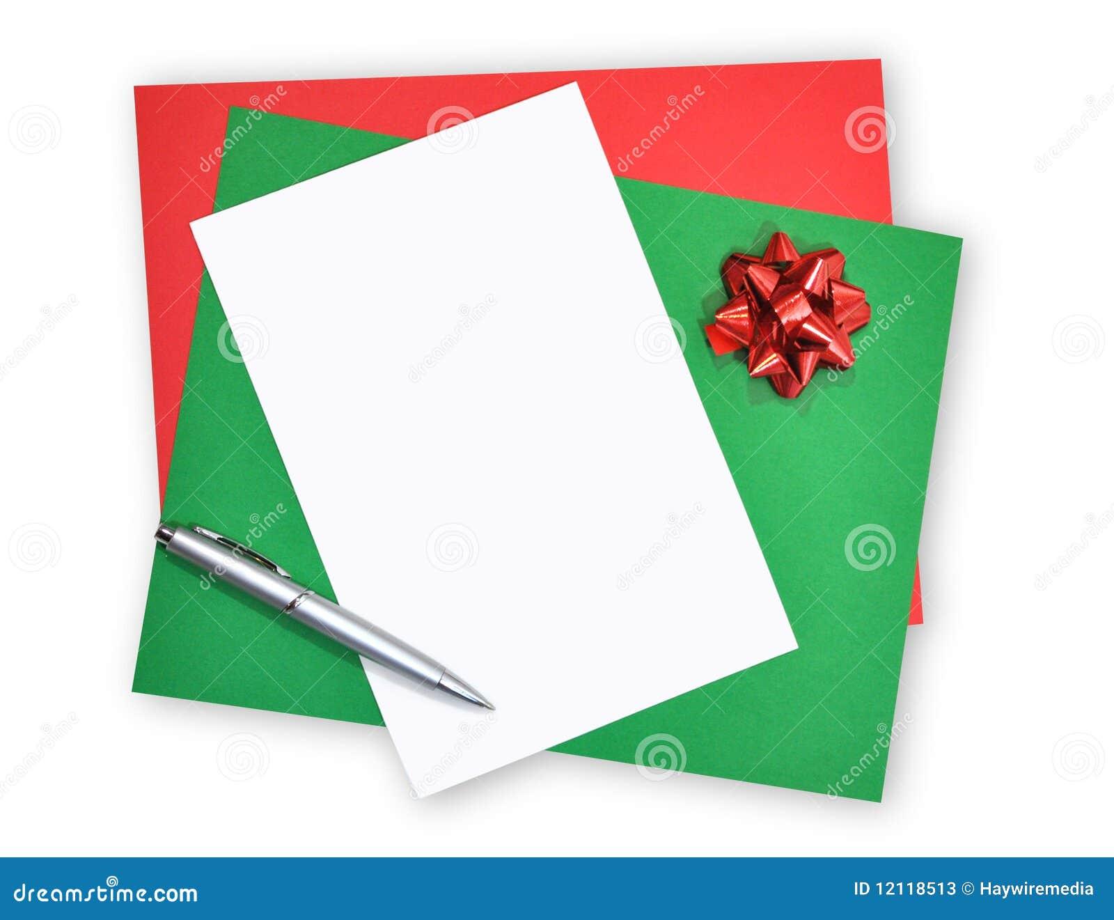 Papel y carta en blanco de la navidad fotos de archivo for Papel pared blanco