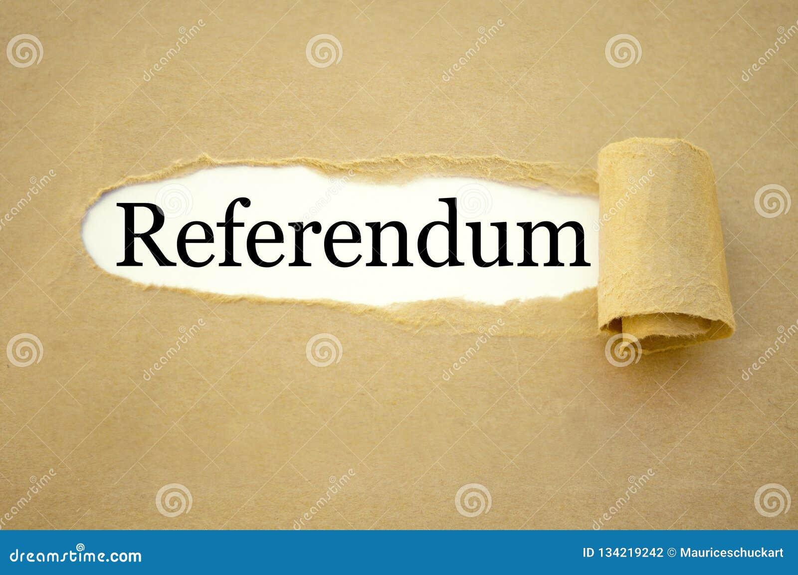 Papeleo con el referéndum