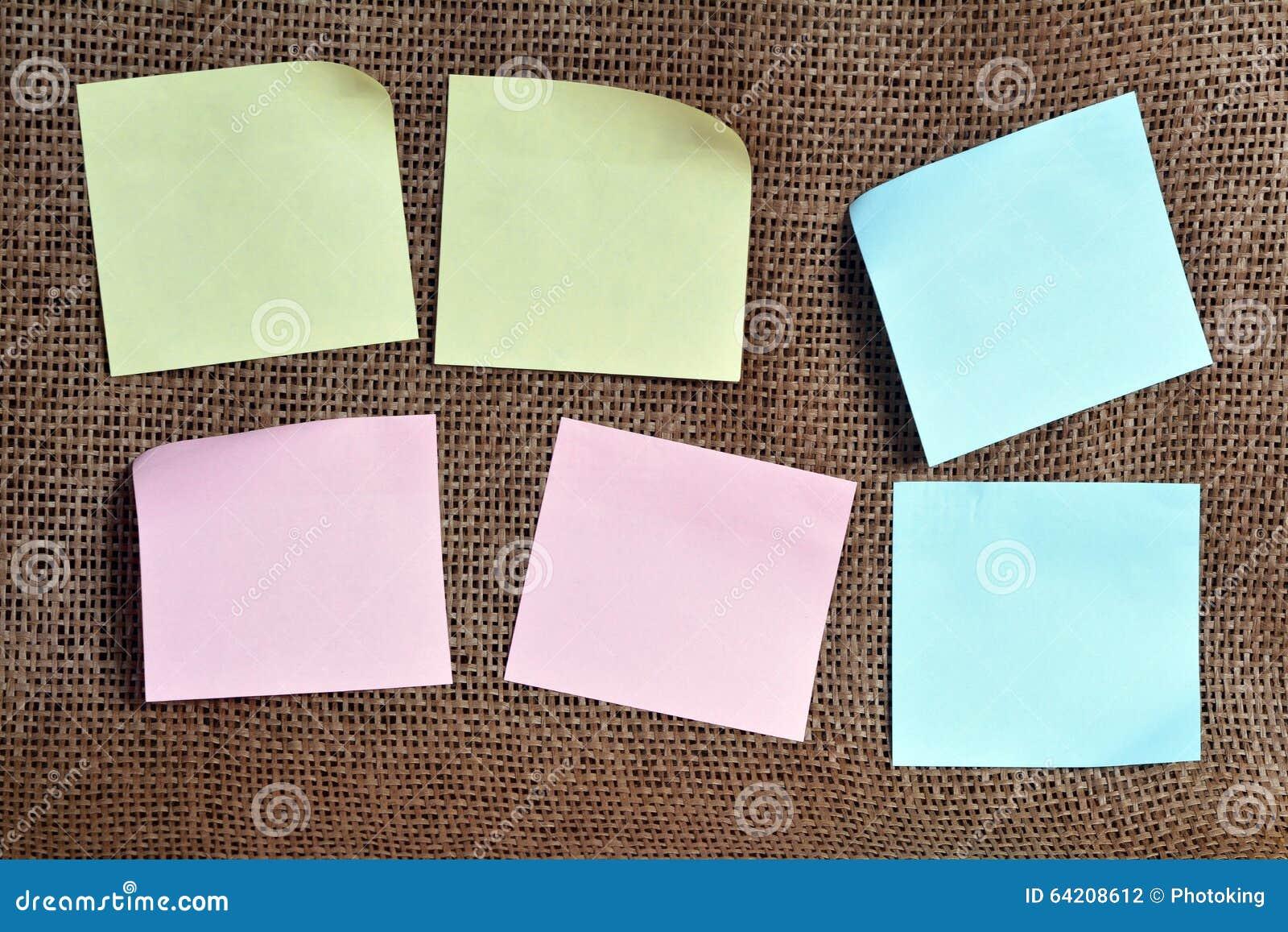 Papeles de nota