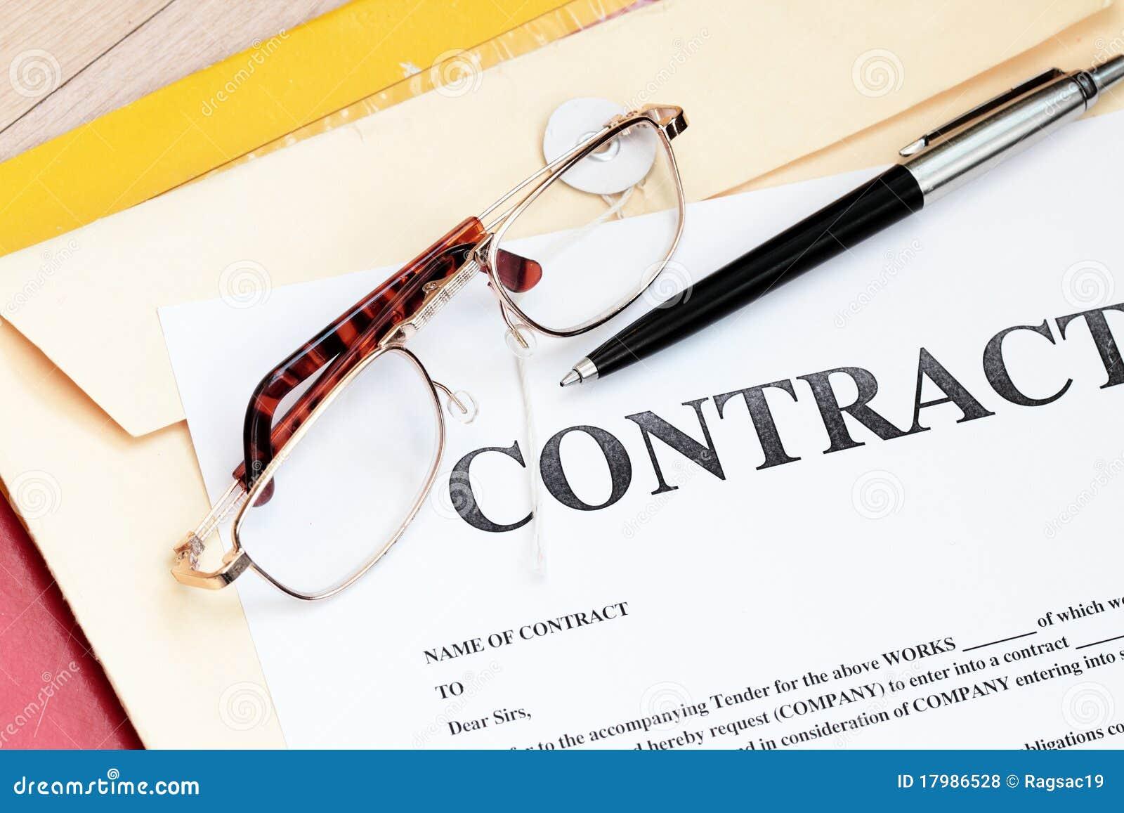 Papeles Legales De La Ley De Contrato Foto De Archivo