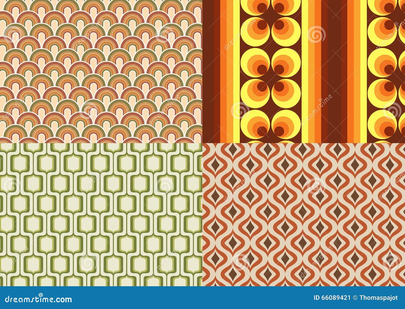 Papeles pintados de los a os 70 ilustraci n del vector ilustraci n de marr n durante 66089421 - Papel pintado anos 60 ...