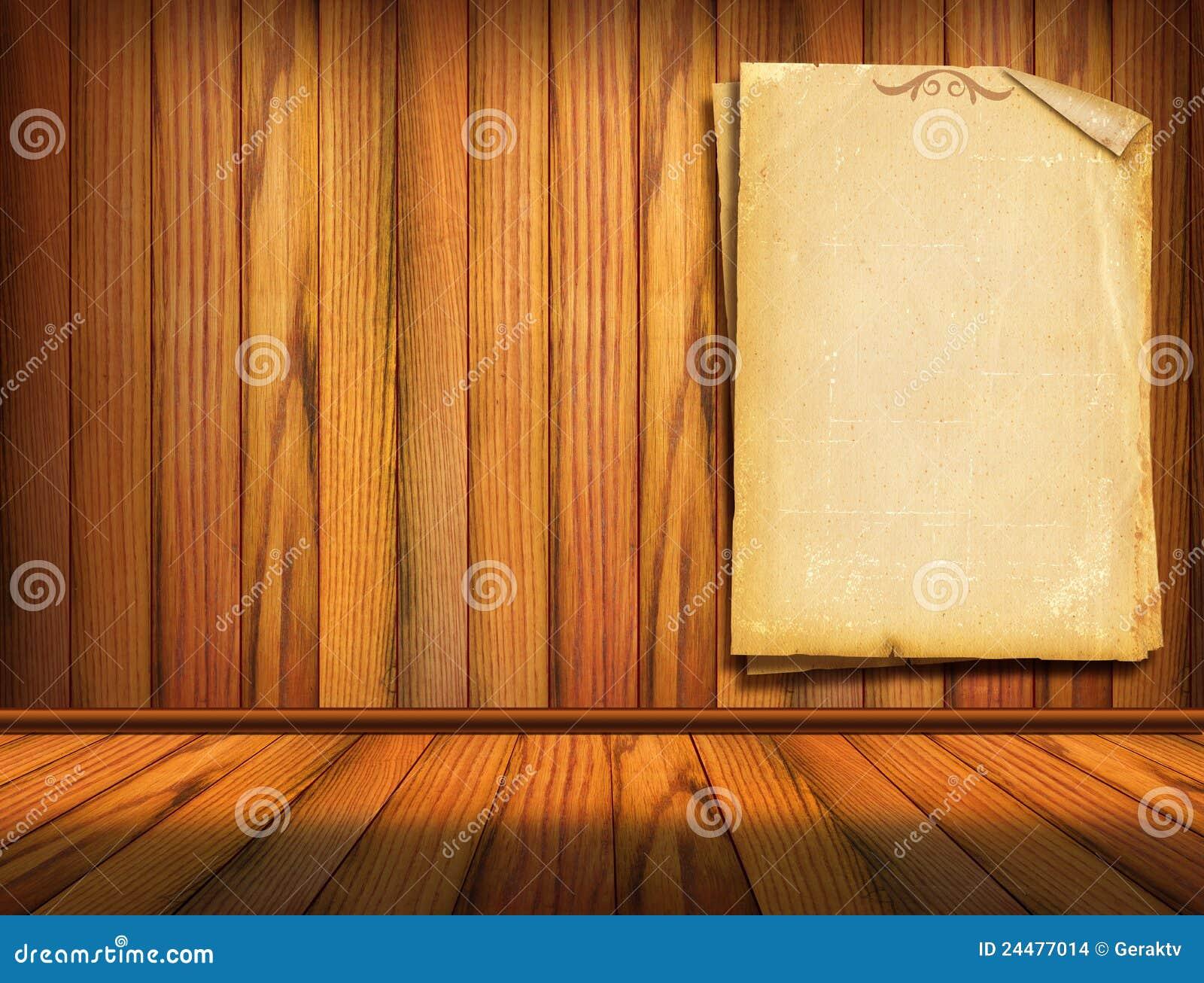 Papeles viejos en la pared de madera imagenes de archivo - Papeles para la pared ...