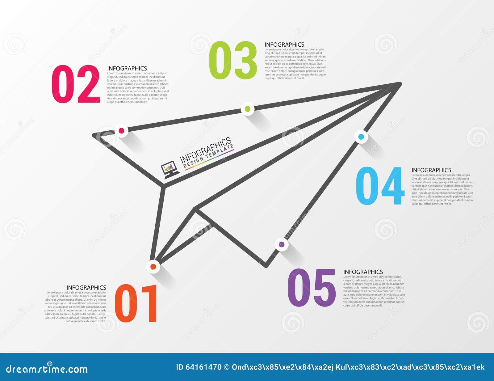 paper airplane invitation template