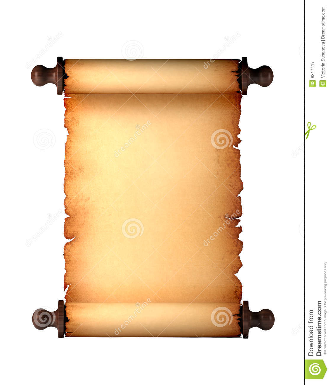 Antique Scrollimgs: Paper Antique Scroll Royalty Free Stock Photography