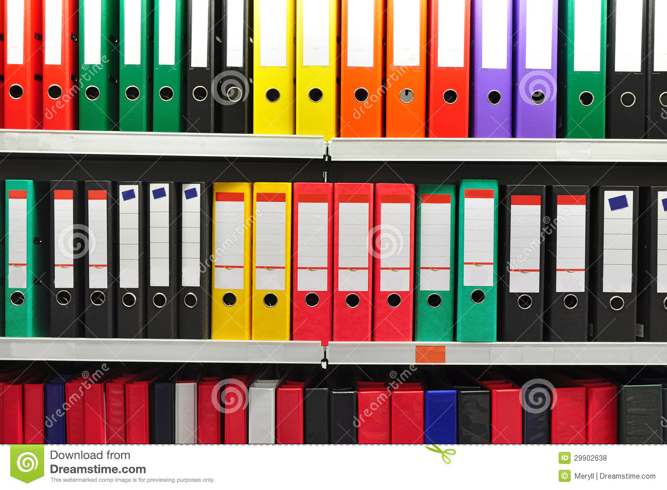 Paper Archive Folders Royalty Free Stock Photos - Image: 29902638