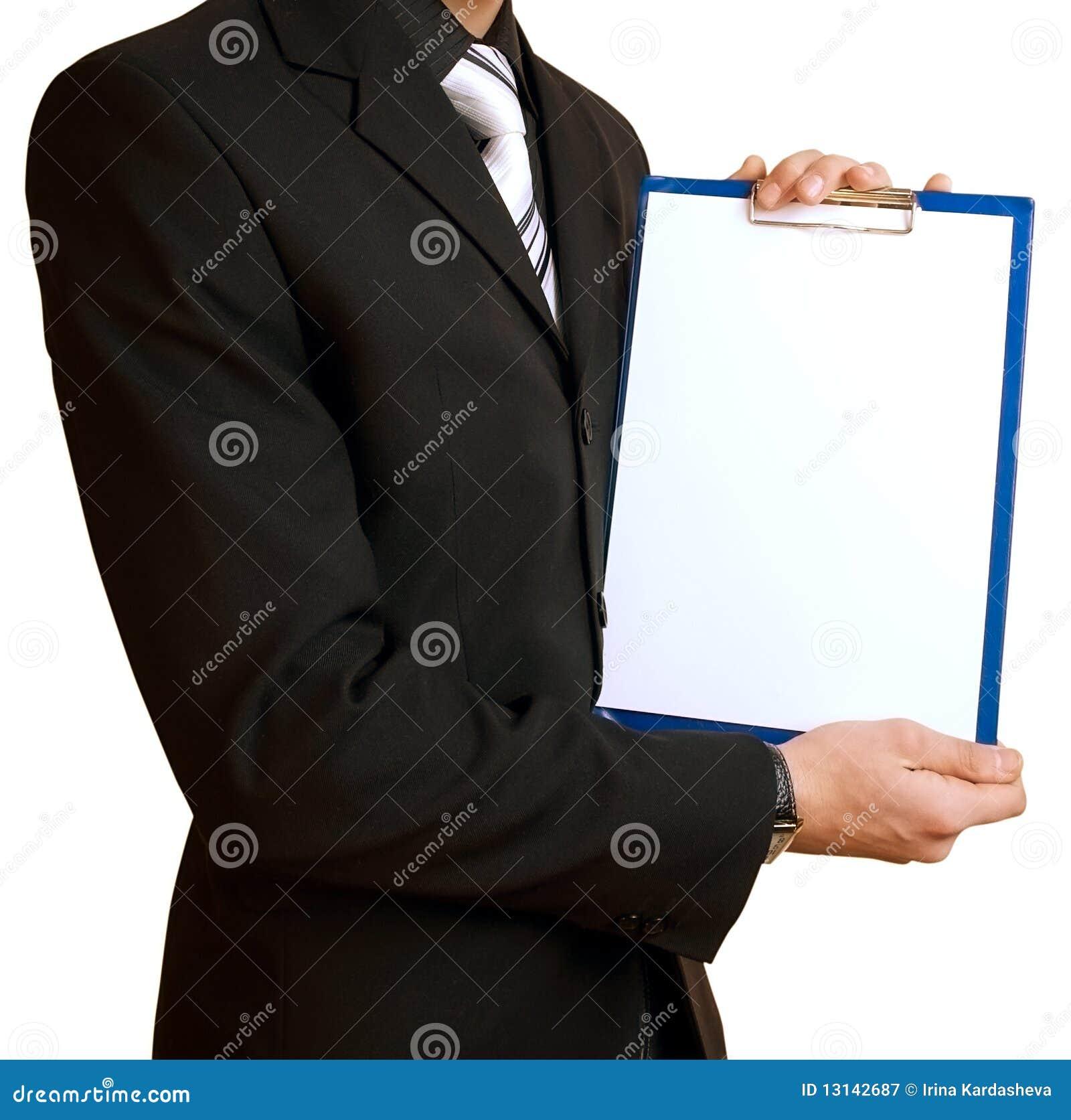 Paper ark för affärsman