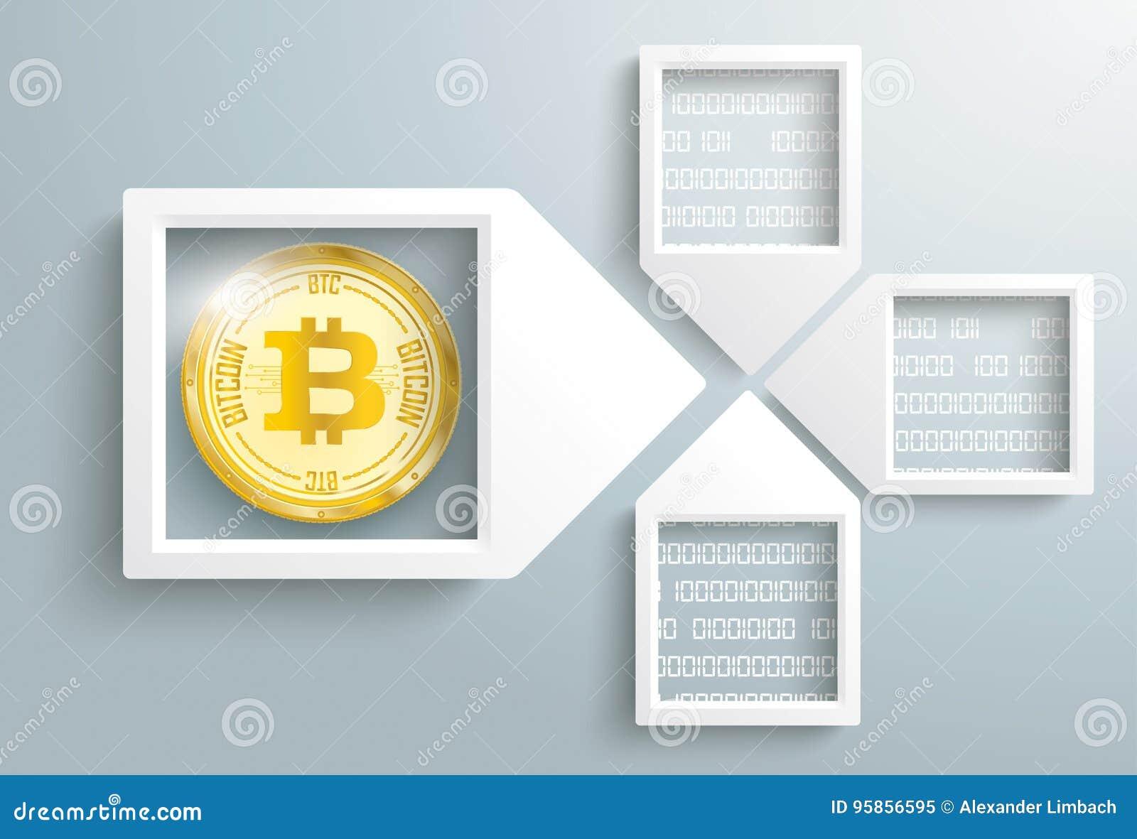 Paper Arrow Frames Data Bitcoin Blockchain Stock Vector ...