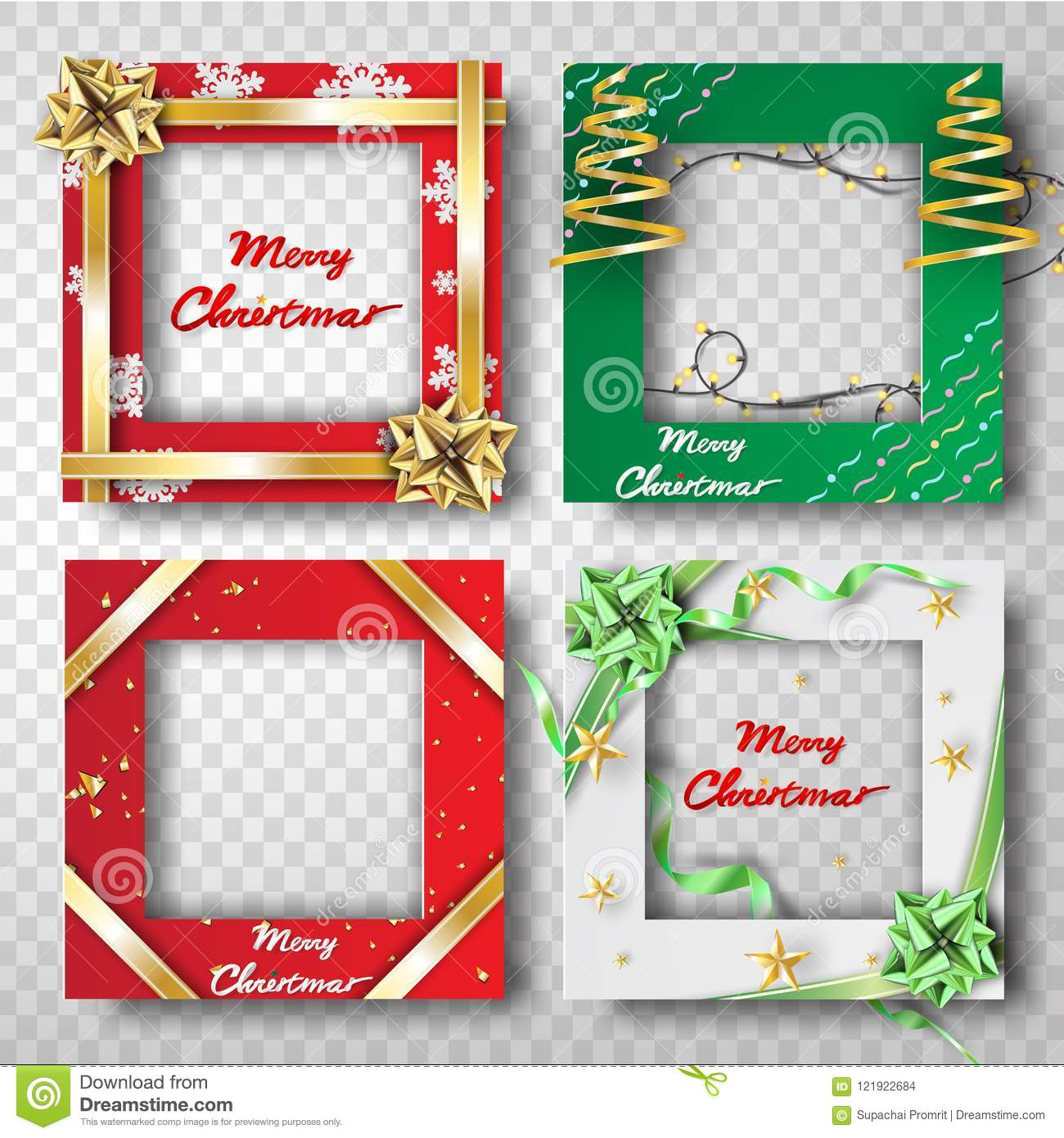 Paper Art And Craft Of Christmas Border Frame Photo Design Set T