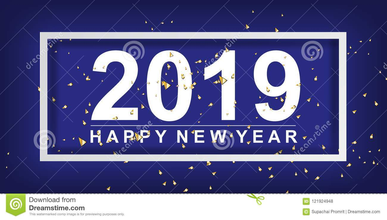 paper art and craft of 2018 happy new year background decorate w
