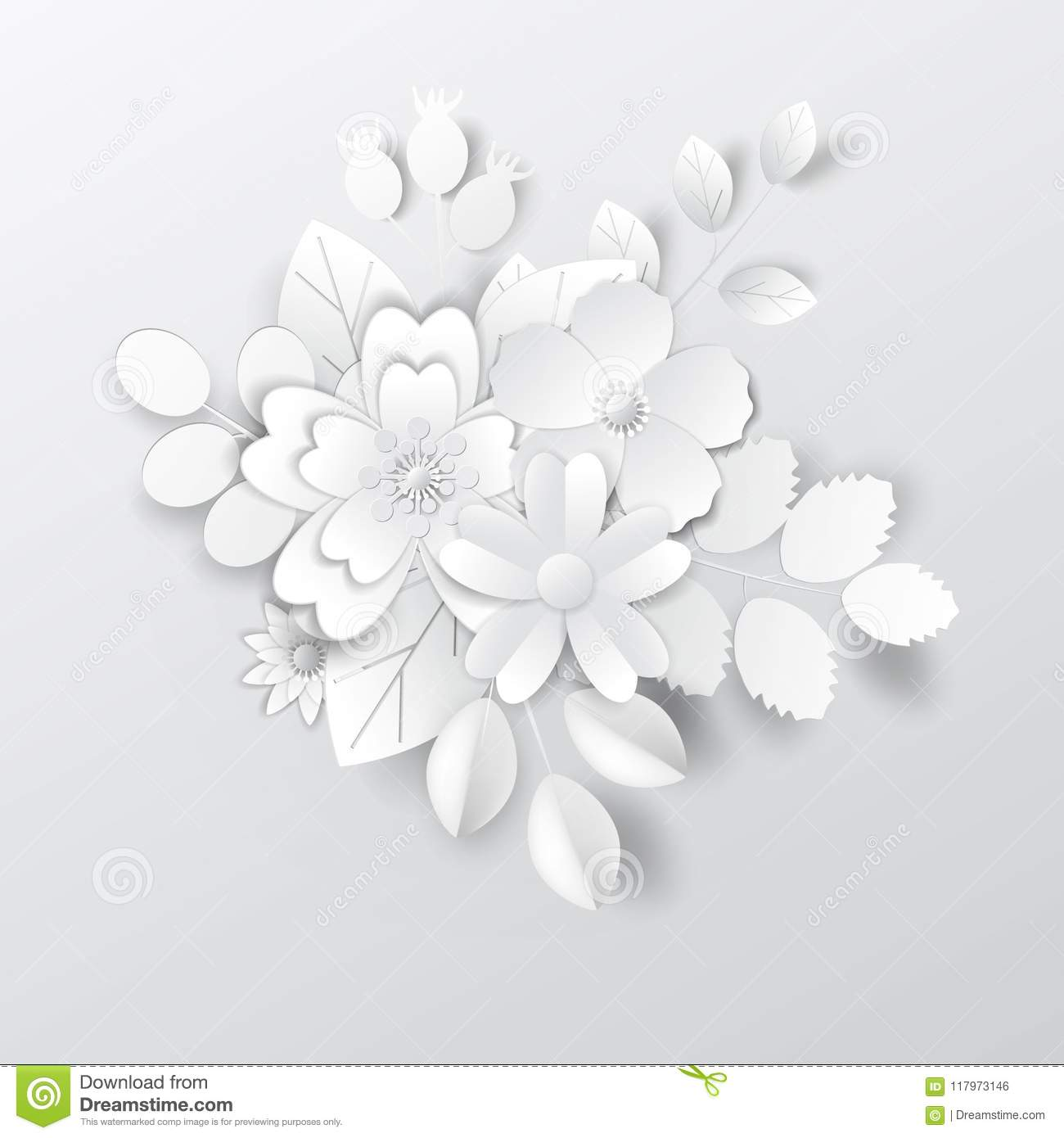 Paper Art Flowers Paper Art Flowers Design For Banners Cards