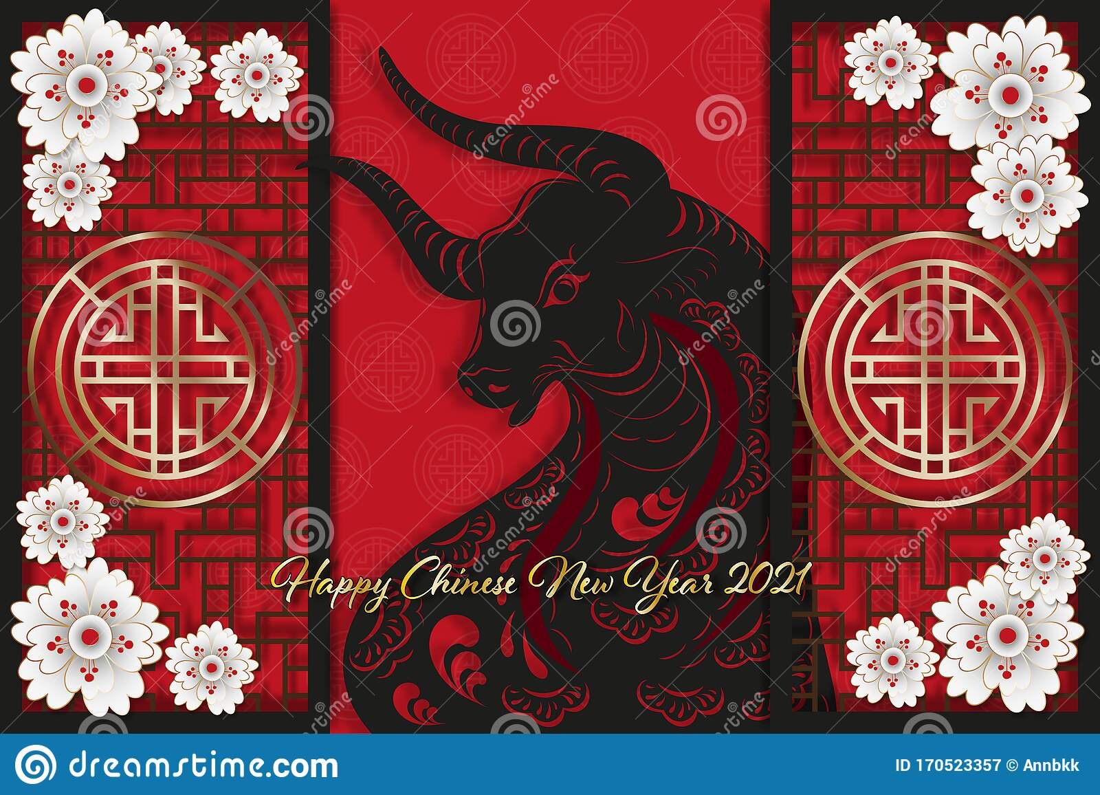 Paper Art Happy Chinese New Year 2021, Zodiac Sign, Year ...