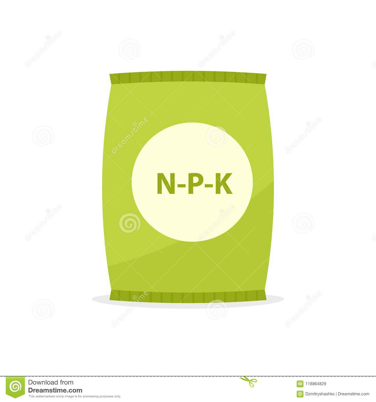 Paper bag with fertilizer icon